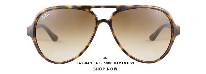 Ray-Ban 4125 710 51 Cats 5000 Havana 59