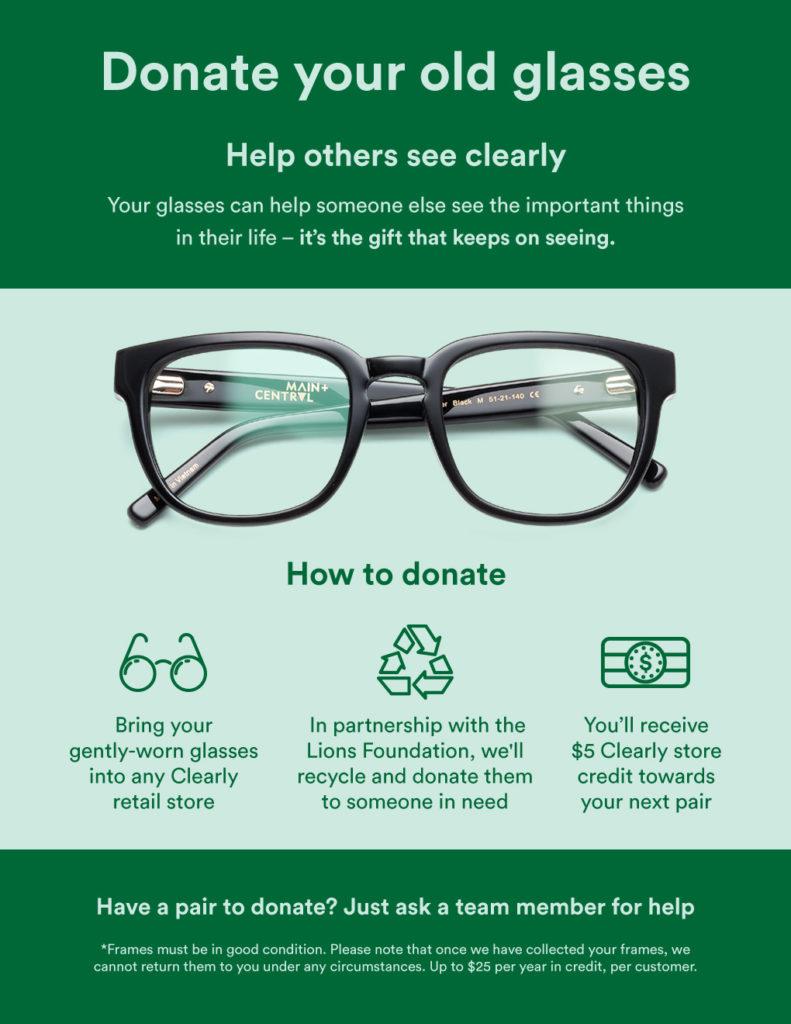 Faites don de vos lunettes chez Clearly